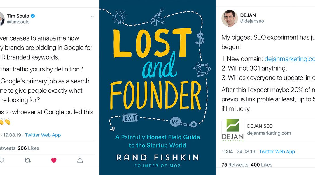 001: Bid on your own brand – Lost & Founder – SEO experiment vs Google